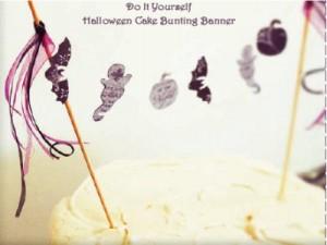 Halloween Cake Bunting Banner