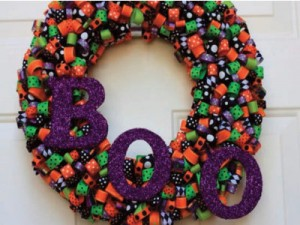 Happy Halloween Ribbon Wreath do it yourself