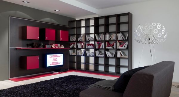 stylish softness modern bookcase design ideas by zg group - Bookcase Design Ideas