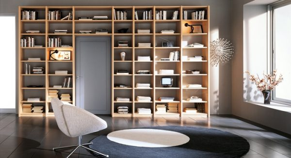 stylish softness modern bookcase design ideas by zg group