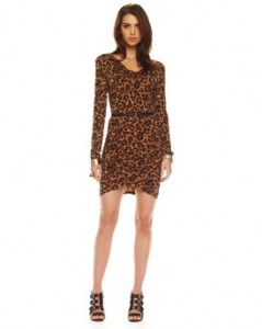 Michael Kors Leopard-Print Jersey Dress