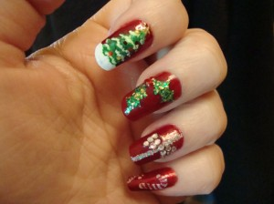 Nail Design Ideas 2012 acrylic nail designs Christmas Nail Design Ideas 2012