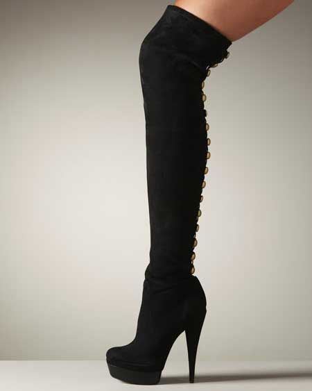 Womens Suede Knee High Boots