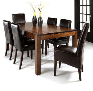 Quality solid wood dining room tables by woodcraft for Trendy dining room furniture