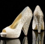 crystal evening shoes by Benjamin adams