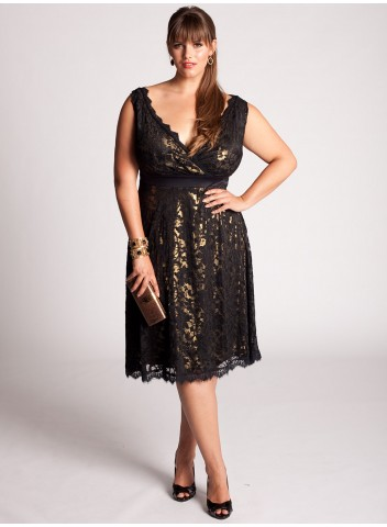 Black Maternity Dress on Fashionable Dress Silk Georgette Sequin Drape Dress From Igigi Plus