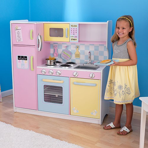 kidkraft large pastel kitchen play set