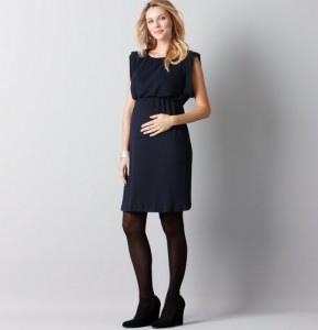 trendy maternity short black dresses_3