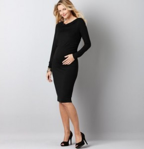 trendy maternity short black dresses_4