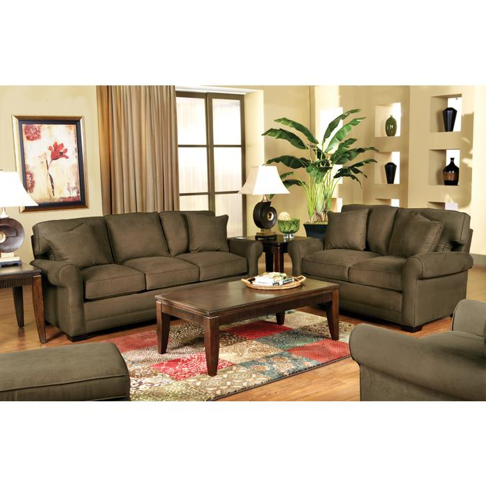 Cindy Crawford Home Bellingham Espresso 7 Pc Sleeper Living Room