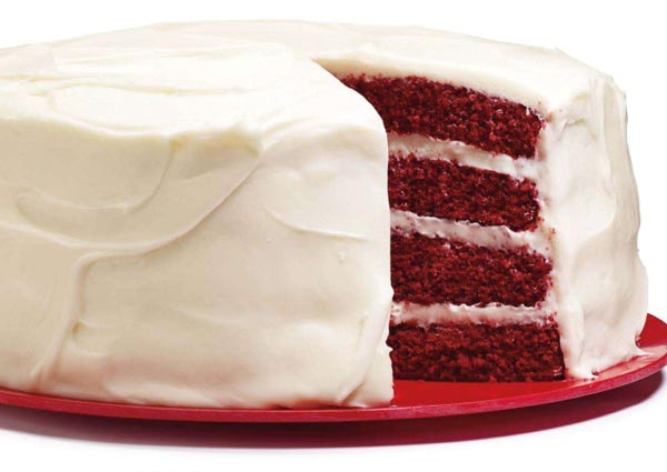 Valentine 39 s day red velvet layer cake recipe for Valentine cake recipes with pictures