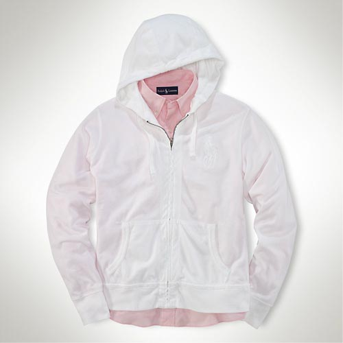 polo ralph lauren Big Pony Full-Zip Mesh Hoodie