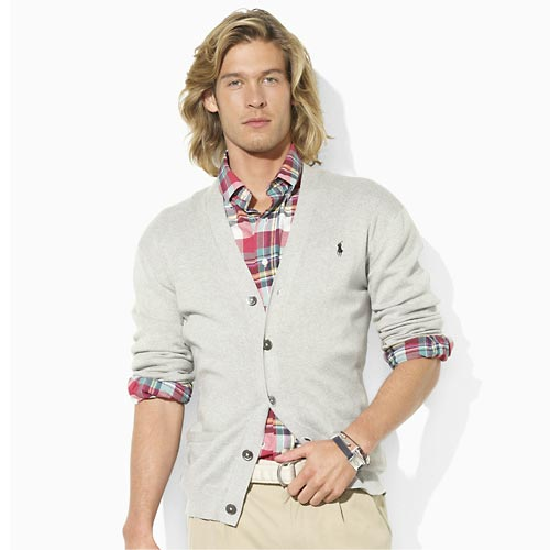 polo ralph lauren Pima Cotton V-Neck Cardigan