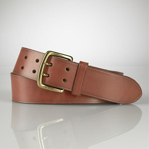 ralph lauren Vintage Leather Buckle Belt