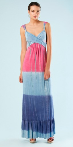 Cabana Blue Mai Tai Jersey Tie Dye Maxi Dress