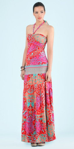 Cabana Multi Bright Young Things Jersey Maxi Dress