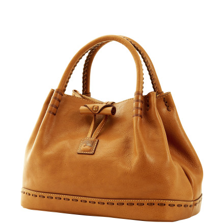 Dooney Bourke Florentine leather Double Handle Toggle Bag
