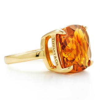 Tiffany Sparklers Citrine cocktail ring