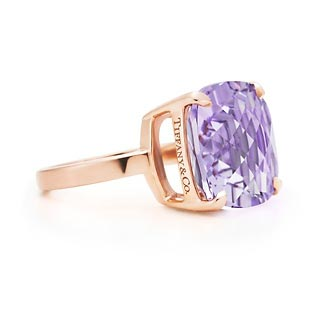 bd8f8560d ... earrings in 18k rose gold. tiffany co. tiffany sparklers lavender amethyst  ring ...
