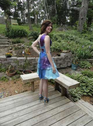 Cardboard Prom Dress by Maura Pozek
