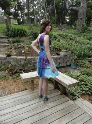 Cardboard Prom Dress by Maura Pozek
