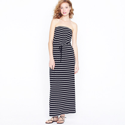 Jcrew Long Maxi Dresses-Amie double-stripe maxi dress