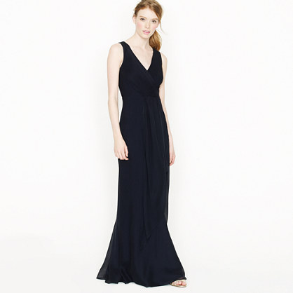Jcrew Long Maxi Dresses-Evie Long Dress In Silk Chiffon