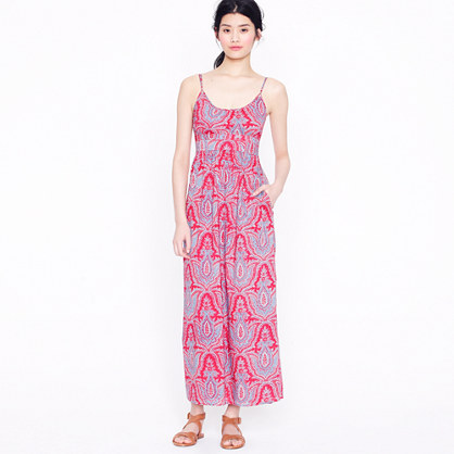 Jcrew Long Maxi Dresses-Midsummer maxi dress in raj paisley