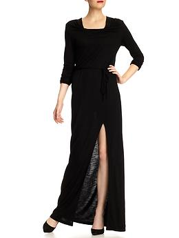 Long Sleeve Dresses, Drape Maxi Dress