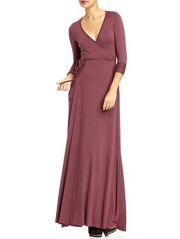 Long Sleeve Dresses, Long Wrap Dress