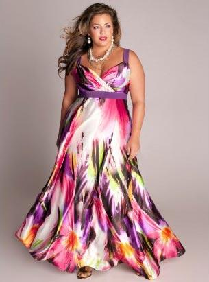 Plus-Size-Evening-Dresses-Tropical-Beauty-Maxi-Dress