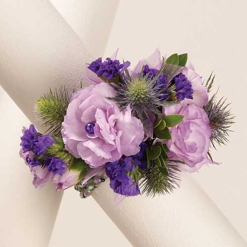 Studded Carnation Wrist Corsage Mother's Day 2012 flowers
