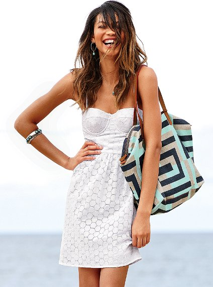 victoria secret white summer dresses 2012
