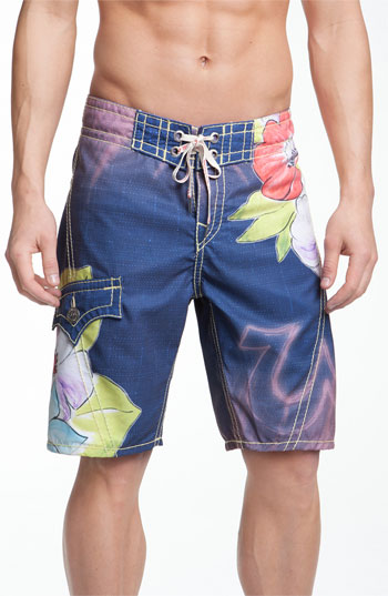 2012 Father's Day Gift-true religion brand jeans 'denim paradise' board shorts
