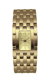 2012 Mother's Day Fashion Gifts-Calvin Klein Women's 'Braid' Yellow Goldplated Stainless Steel Quartz Watch Gold Stainless Steel