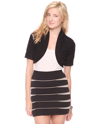 2012 Mother's Day Fashion Gifts-Forever 21 Women's Eyelash Trim Shrug