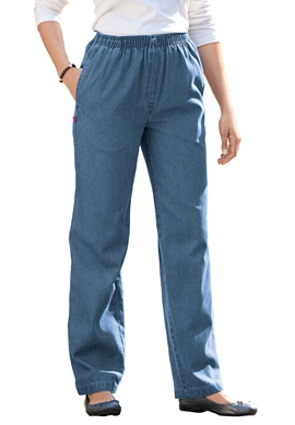 2012 Mother's Day Fashion Gifts-Woman Within Jeans with pull on elastic waist
