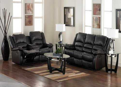 Aaron's Furniture Bonded Leather Living Room Collection