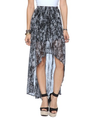 Abstract High-Low Skirt