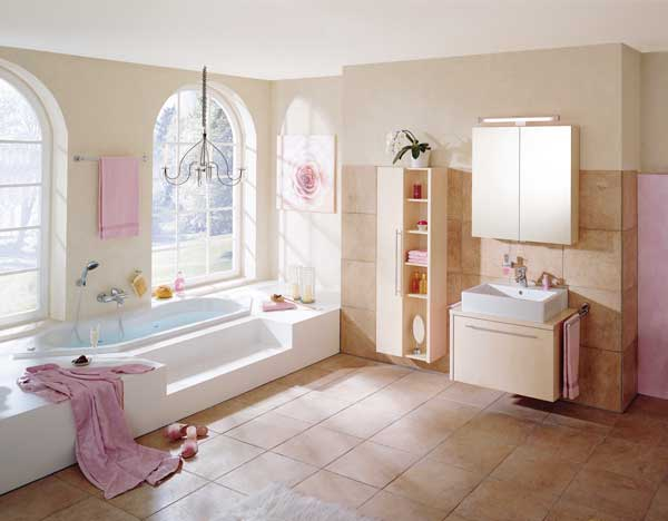 1000 images about bathrooms on pinterest walk in shower - Pink bathtub decorating ideas ...
