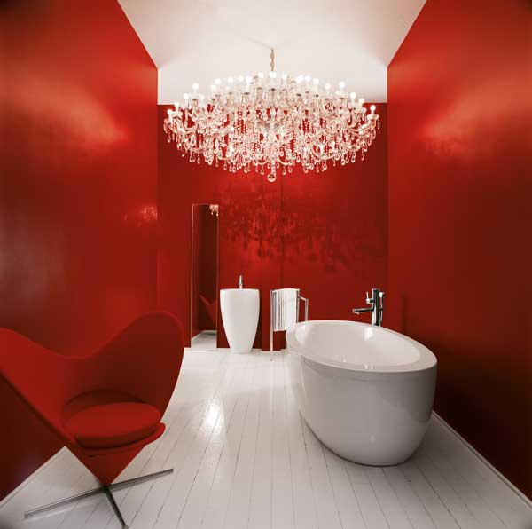 Bathroom Decorating Ideas 2012-Red Bathroom Design Ideas