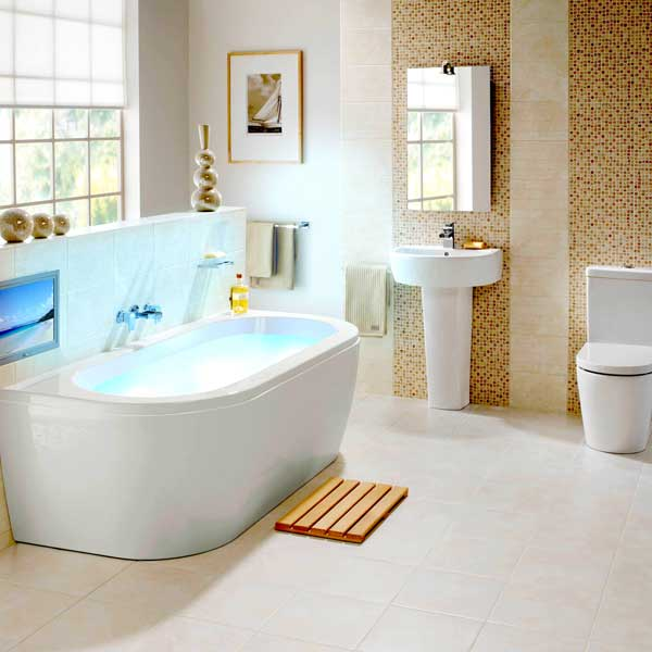 Bathroom decorating ideas 2012 for Trendy bathroom ideas