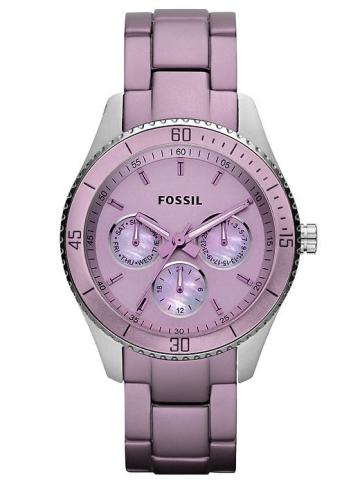 Father's Day Gifts 2012-Fossil Stella Aluminum And Stainless Steel Watch Purple