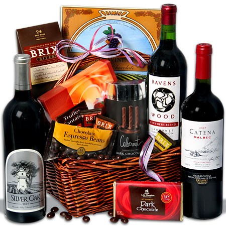 Father's Day Gifts 2012-Red Wine & Dark Chocolate Gift Basket