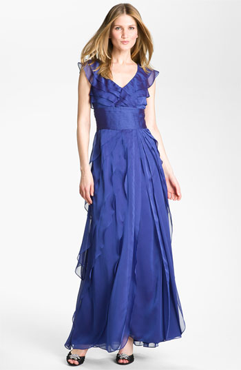 Memorial Day 2012-Adrianna Papell Tiered Chiffon Gown