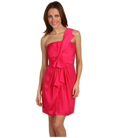 Memorial Day 2012-BCBGMAXAZRIA Drape Front One Shoulder Satin Dress