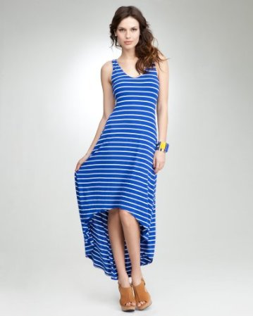 Memorial Day 2012-bebe Striped Hi Low Maxi Dress
