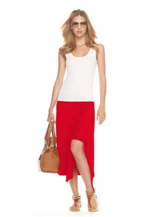 Michael-Kors-Drape-Front-Skirt,-Red