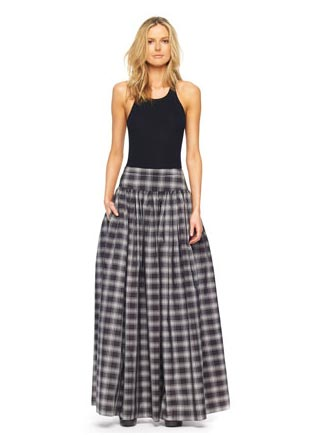 Michael-Kors-Taos-Plaid-Taffeta-Maxi-Skirt