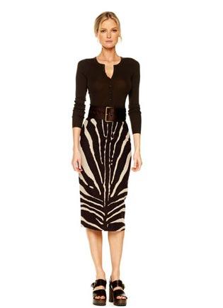 Michael-Kors-Zebra-Print-Pencil-Skirt